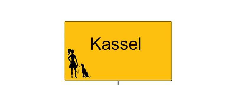 Ortsschild von Kassel