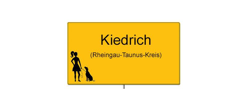Ortsschild von Kiedrich