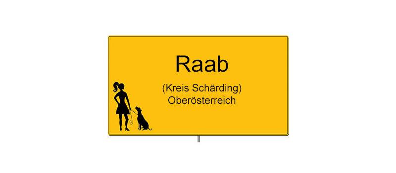 Ortsschild Raab in Österreich